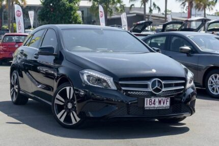 2015 Mercedes-Benz A200 W176 806MY D-CT Black 7 Speed Sports Automatic Dual Clutch Hatchback