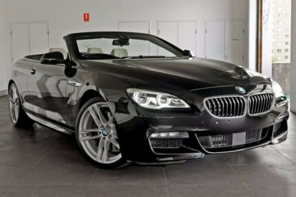 2016 BMW 640i F12 LCI Steptronic Black 8 Speed Sports Automatic Convertible