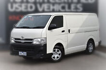 2013 Toyota Hiace KDH201R MY12 LWB White Solid 4 Speed Automatic Van Pakenham Cardinia Area Preview