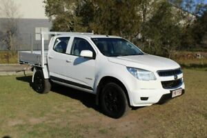 2014 Holden Colorado RG MY14 LX Crew Cab 4x2 White 6 Speed Sports Automatic Cab Chassis Ormeau Gold Coast North Preview