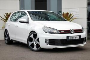 2012 Volkswagen Golf VI MY12.5 GTI DSG White 6 Speed Sports Automatic Dual Clutch Hatchback