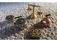 Metal Cooking Set for Dolls House