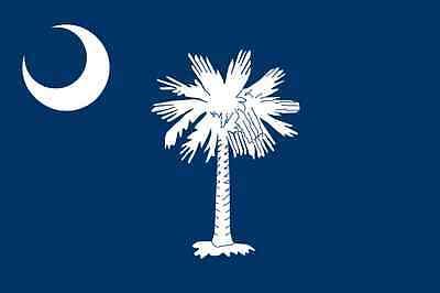 Home Decoration - South Carolina Flag Vinyl Decal / Sticker ** 5 Sizes **