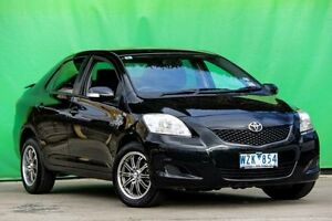 2009 Toyota Yaris NCP93R MY09 YRS Black 4 Speed Automatic Sedan Ringwood East Maroondah Area Preview