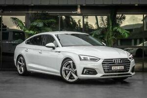 2017 Audi A5 F5 MY18 Sport Sportback S Tronic Quattro White 7 Speed Sports Automatic Dual Clutch