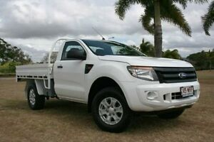 2013 Ford Ranger PX XL 4x2 Hi-Rider White 6 Speed Manual Cab Chassis Townsville Townsville City Preview