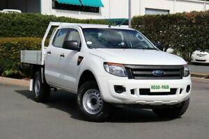 2014 Ford Ranger PX XL Double Cab Cool White 6 Speed Sports Automatic Cab Chassis Acacia Ridge Brisbane South West Preview