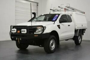 2015 Ford Ranger PX XL 3.2 (4x4) White 6 Speed Manual Cab Chassis Oakleigh Monash Area Preview