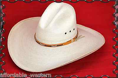 Big 5  Brim   Western Cowboy Hat   Mexican Palm Leaf Straw   Wide Gus   Quigley