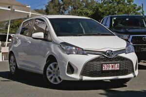2015 Toyota Yaris NCP130R Ascent White 5 Speed Manual Hatchback Noosaville Noosa Area Preview