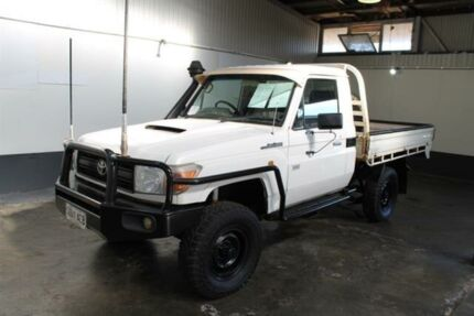 2008 Toyota Landcruiser VDJ79R Workmate (4x4) White 5 Speed Manual Cab Chassis Pennington Charles Sturt Area Preview