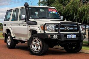 2015 Toyota Landcruiser VDJ76R GXL White 5 Speed Manual Wagon Wangara Wanneroo Area Preview