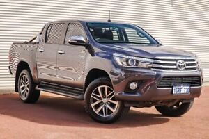 2015 Toyota Hilux GUN126R SR5 Double Cab Grey 6 Speed Sports Automatic Utility Gosnells Gosnells Area Preview