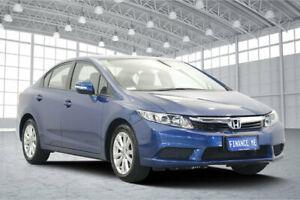 2012 Honda Civic 9th Gen VTi-L Blue 5 Speed Sports Automatic Sedan