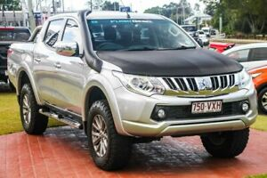 2015 Mitsubishi Triton MQ MY16 GLS Double Cab Silver 5 Speed Sports Automatic Utility Capalaba Brisbane South East Preview