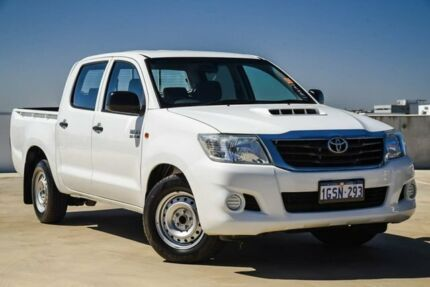 2013 Toyota Hilux KUN16R MY12 SR Double Cab 4x2 White 5 Speed Manual Utility Osborne Park Stirling Area Preview