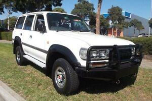 1991 Toyota Landcruiser GXL (4x4) White 5 Speed Manual 4x4 Wagon Melbourne CBD Melbourne City Preview
