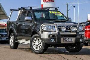 2013 Toyota Hilux KUN26R MY12 SR5 Double Cab Black 4 Speed Automatic Utility Monkland Gympie Area Preview