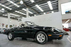 1986 Alfa Romeo Spider Black Manual Roadster Port Melbourne Port Phillip Preview