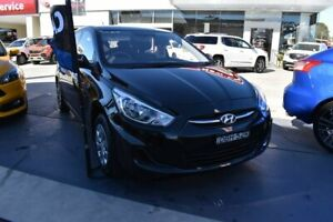 2015 Hyundai Accent RB2 MY15 Active Black 4 Speed Sports Automatic Hatchback Pennant Hills Hornsby Area Preview