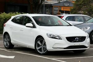 2015 Volvo V40 M MY16 T4 Luxury Ice White 6 Speed Automatic Hatchback Dee Why Manly Area Preview