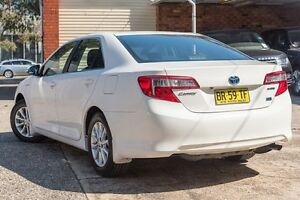 2012 Toyota Camry AVV50R Hybrid H White 1 Speed Constant Variable Sedan Brookvale Manly Area Preview