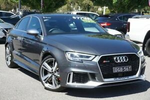 2017 Audi RS 3 8V MY17 S Tronic Quattro Grey 7 Speed Sports Automatic Dual Clutch Sedan Phillip Woden Valley Preview