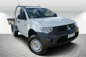 2014 Mitsubishi Triton MN MY14 Update GL White 5 Speed Manual Cab Chassis Golden Square Bendigo City Preview