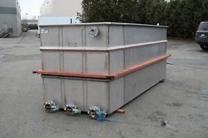 Stainless Steel Plating Tanks 12' x 4.5' x 4'