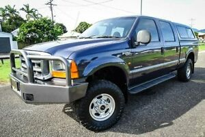 2002 Ford F250 RM XLT (4x4) Blue 4 Speed Automatic Crew Cab P/Up Bungalow Cairns City Preview