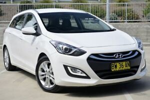 2013 Hyundai i30 GD Active Tourer White 6 Speed Sports Automatic Wagon Lisarow Gosford Area Preview