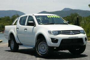 2013 Mitsubishi Triton MN MY13 GLX Double Cab White 4 Speed Sports Automatic Utility Bungalow Cairns City Preview