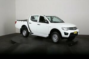 2011 Mitsubishi Triton MN MY11 GLX White 5 Speed Manual Double Cab Utility McGraths Hill Hawkesbury Area Preview