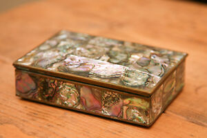 Mexican Silver Mother of Pearl boxes Peterborough Peterborough Area image 3