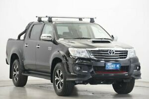 2014 Toyota Hilux KUN26R MY14 Black Double Cab Limited Edition Black 5 Speed Automatic Utility