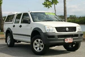 2006 Holden Rodeo RA MY06 LX Crew Cab White 4 Speed Automatic Utility Bungalow Cairns City Preview
