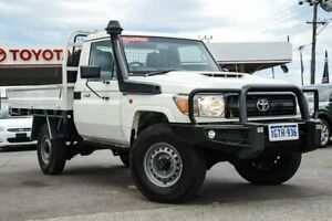 2017 Toyota Landcruiser VDJ79R Workmate French Vanilla 5 Speed Manual Cab Chassis Osborne Park Stirling Area Preview