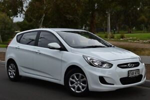 2013 Hyundai Accent RB Active White 4 Speed Sports Automatic Hatchback St Marys Mitcham Area Preview