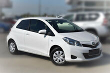 2012 Toyota Yaris NCP130R YR White 4 Speed Automatic Hatchback Pakenham Cardinia Area Preview