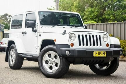 2012 Jeep Wrangler JK MY2013 Overland White 5 Speed Automatic Hardtop Greenacre Bankstown Area Preview