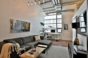 Trendy  &  Spacious 2 Bed @ Famous Tip Top Lofts w. Parking