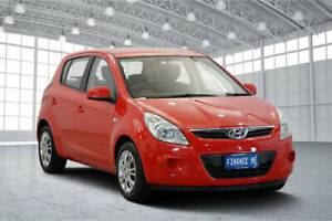 2012 Hyundai i20 PB MY12 Active Red 5 Speed Manual Hatchback Victoria Park Victoria Park Area Preview