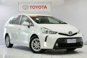2019 Toyota Prius v ZVW40R White 1 Speed Constant Variable Wagon Hybrid Waterloo Inner Sydney Preview