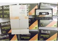 50 Scotch Superferric high energy C90 cassettes - recorded once, now blank & ready to record