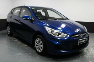 2014 Hyundai Accent RB2 MY15 Active Dazzling Blue 4 Speed Sports Automatic Hatchback Glendale Lake Macquarie Area Preview