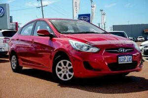 2013 Hyundai Accent RB Active Red/Black 5 Speed Manual Sedan Osborne Park Stirling Area Preview