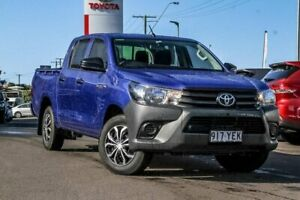 2018 Toyota Hilux TGN121R Workmate Double Cab 4x2 Blue 6 Speed Sports Automatic Utility Monkland Gympie Area Preview