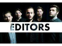 2x Editors Standing Tickets - Clapham Grand London - 6th March