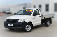 2015 Toyota Hilux TGN16R MY14 Workmate White 4 Speed Automatic Cab Chassis Pakenham Cardinia Area Preview