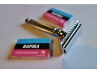 Edwin Jagger DE89 Gentlemans Razor And 20 Brand New Razor Blades